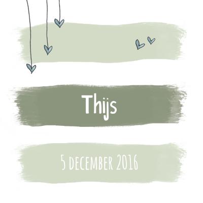 Geboortekaart Thijs