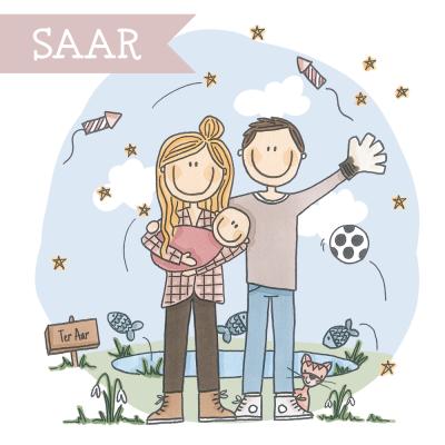 Geboortekaart Saar