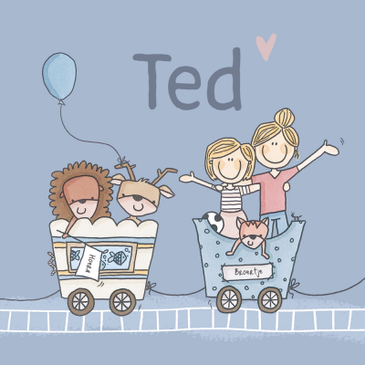 Geboortekaart Ted