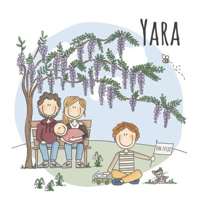 Geboortekaart Yara